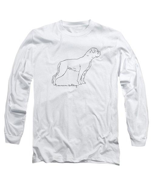 American Bulldog Sketch Long Sleeve T-Shirt