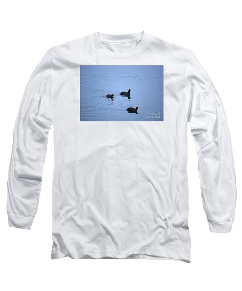 Long Sleeve T-Shirt featuring the photograph American Coots 20120316_39a by Tina Hopkins