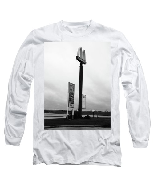 Long Sleeve T-Shirt featuring the photograph American Interstate - Illinois I-55 by Frank Romeo