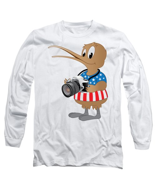 American Kiwi Photo Long Sleeve T-Shirt by Mark Dodd