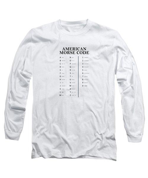 American Morse Code Long Sleeve T-Shirt