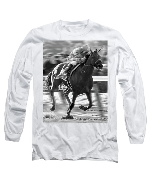 American Pharoah And Victor Espinoza Win The 2015 Belmont Stakes Long Sleeve T-Shirt