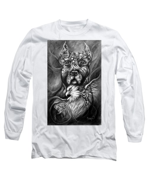 American Pitbull Long Sleeve T-Shirt by Patricia Lintner