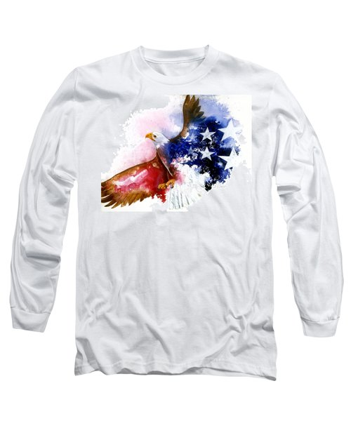 American Spirit Long Sleeve T-Shirt by Sherry Shipley