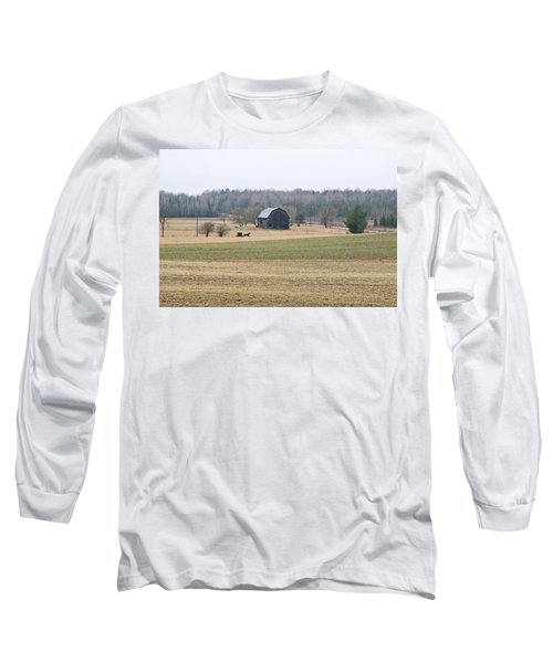 Long Sleeve T-Shirt featuring the photograph Amish Country 0754 by Michael Peychich