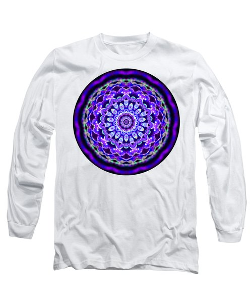 Long Sleeve T-Shirt featuring the digital art Ammersee Cropcircle Lightmandala Morph by Robert Thalmeier