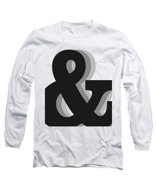 Ampersand - And Symbol 1 - Minimalist Print Long Sleeve T-Shirt