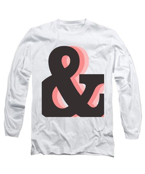 Ampersand - And Symbol 2 - Minimalist Print Long Sleeve T-Shirt