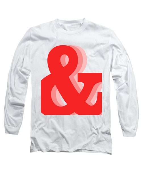 Ampersand - Red - And Symbol - Minimalist Print Long Sleeve T-Shirt