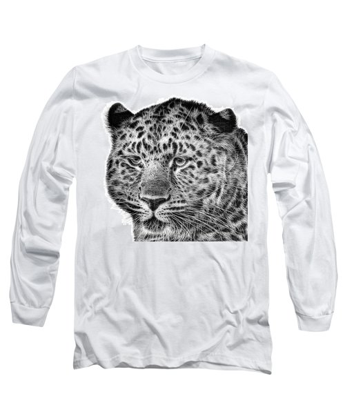 Amur Leopard Long Sleeve T-Shirt by John Edwards