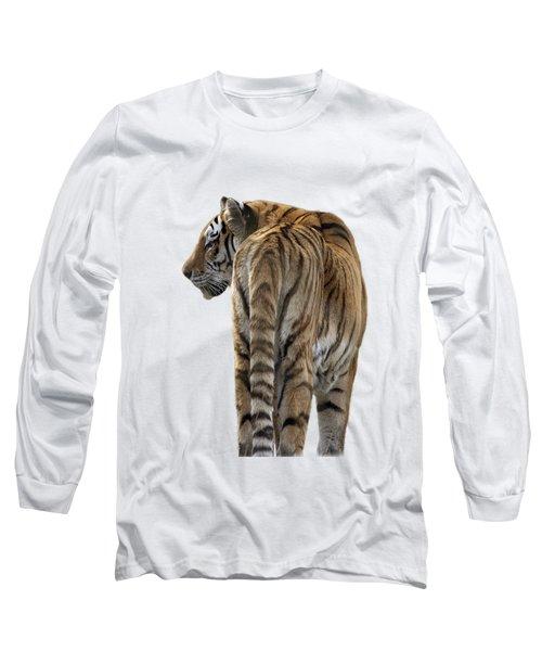 Amur Tiger On Transparent Background Long Sleeve T-Shirt