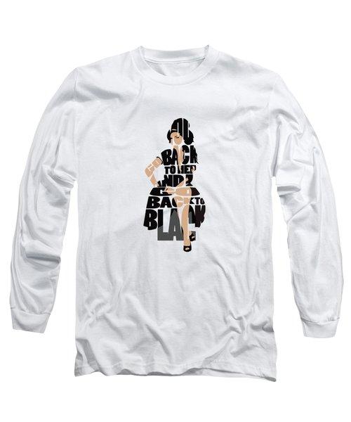 Amy Winehouse Typography Art Long Sleeve T-Shirt