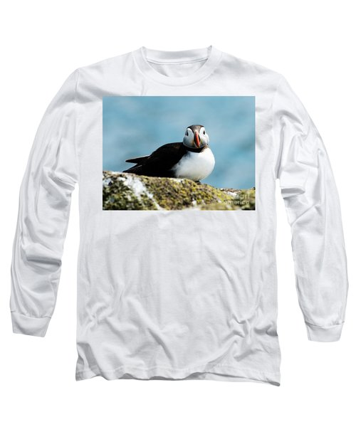 Long Sleeve T-Shirt featuring the photograph An Atlantic Puffin by MaryJane Armstrong