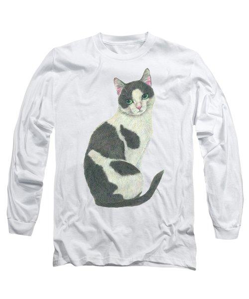 An Elegant Tuxedo Cat Long Sleeve T-Shirt