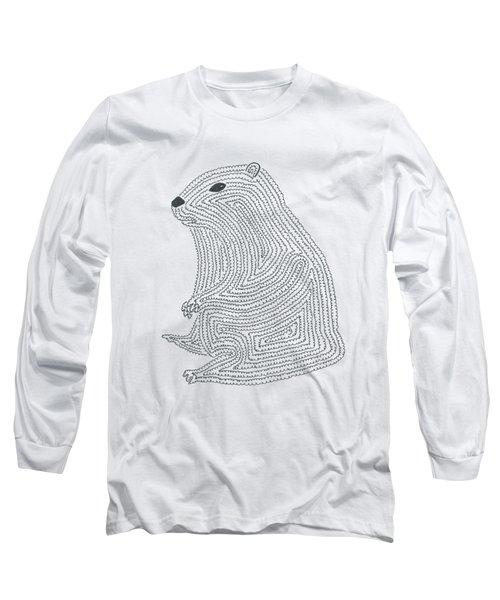An Elusive Marmot Long Sleeve T-Shirt by Nerea Gutierrez