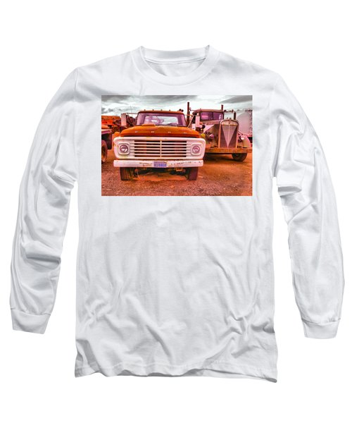 Long Sleeve T-Shirt featuring the photograph An Old Ford And Kenworth by Jeff Swan
