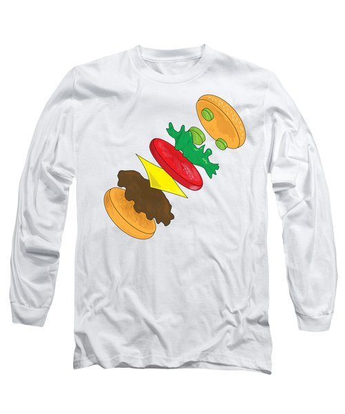 Anatomy Of Cheeseburger Long Sleeve T-Shirt