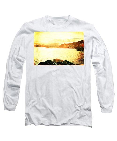 Long Sleeve T-Shirt featuring the digital art Ancient Marina by Andrea Barbieri