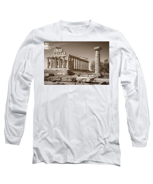 Ancient Paestum Architecture Long Sleeve T-Shirt