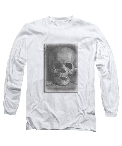 Ancient Skull Tee Long Sleeve T-Shirt by Edward Fielding