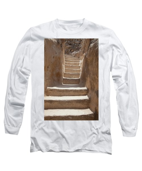 Ancient Stairs Long Sleeve T-Shirt by Yoel Koskas