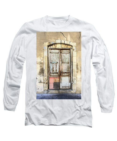 Ancient Wooden Door In Old Town. Limassol. Cyprus Long Sleeve T-Shirt