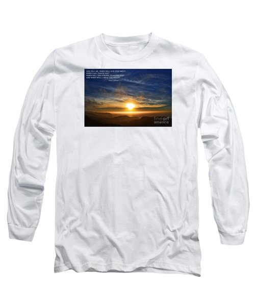 And When Will I Hold You Again Long Sleeve T-Shirt by Jim Fitzpatrick
