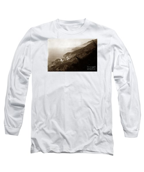Anderson Creek Labor Camp Big Sur April 3 1931 Long Sleeve T-Shirt by California Views Mr Pat Hathaway Archives