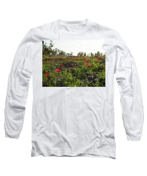 Long Sleeve T-Shirt featuring the photograph Anemones Forest by Yoel Koskas
