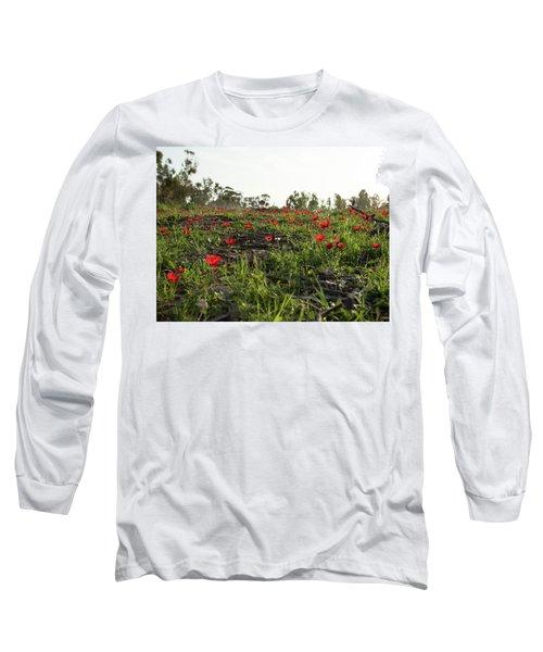 Anemones Forest Long Sleeve T-Shirt by Yoel Koskas