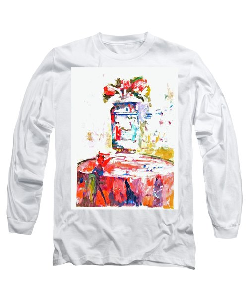 Anemones In A Chinese Vase After Edouard Vuillard Long Sleeve T-Shirt