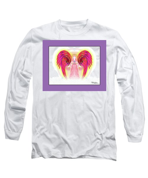 Long Sleeve T-Shirt featuring the digital art Angel #199 by Barbara Tristan