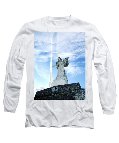 Angel And Crosses Long Sleeve T-Shirt