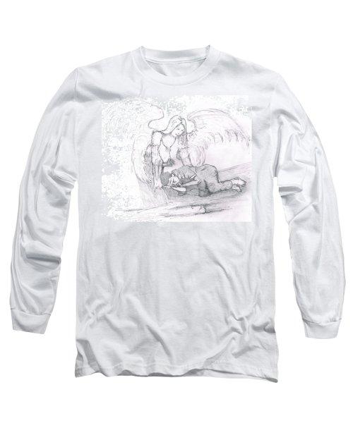 Angel And The Man Long Sleeve T-Shirt by Dan Twyman