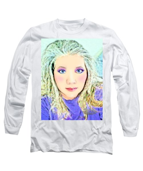 Angel Eyes Long Sleeve T-Shirt by Barbara Tristan