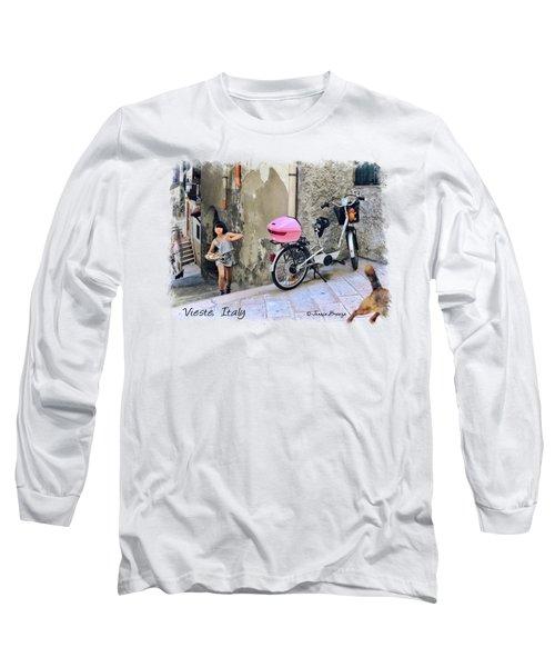 Angel Face.vieste.italy Long Sleeve T-Shirt