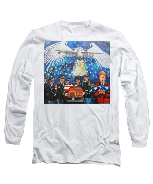 Angel Flight Long Sleeve T-Shirt by Ken Pridgeon