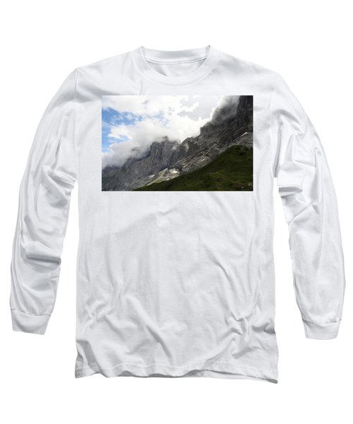 Angel Horns In The Clouds Long Sleeve T-Shirt by Ernst Dittmar