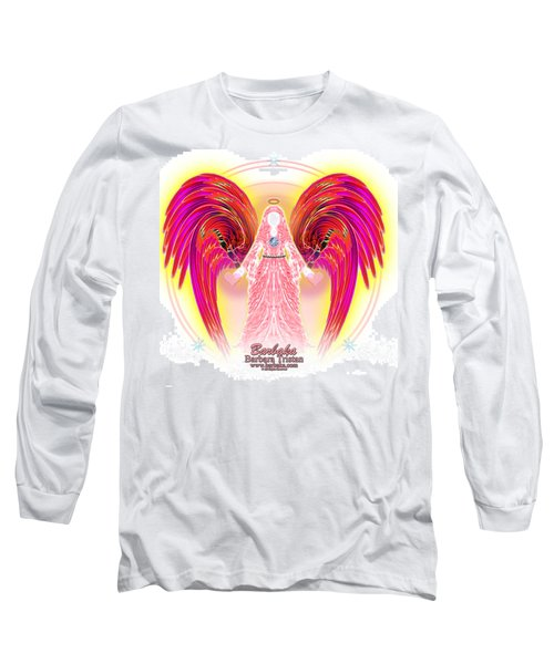Angel Intentions Divine Timing Long Sleeve T-Shirt by Barbara Tristan