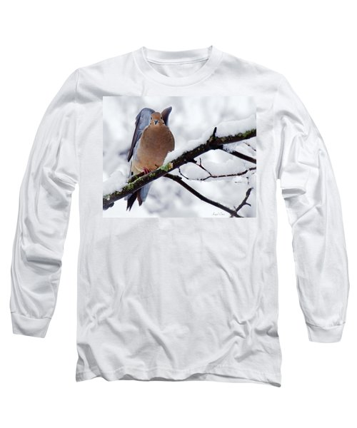 Long Sleeve T-Shirt featuring the photograph Angel Mourning Dove by Angel Cher