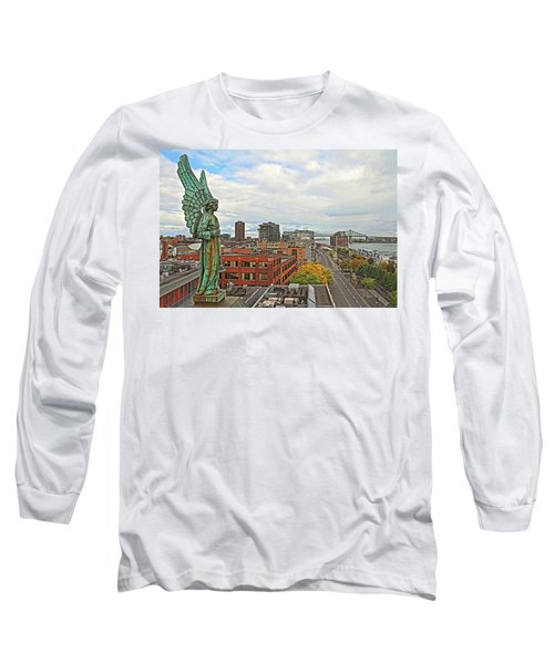 Angel Of Old Montreal Long Sleeve T-Shirt by Alice Gipson