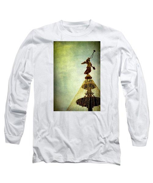 Angel On The Fountain Long Sleeve T-Shirt