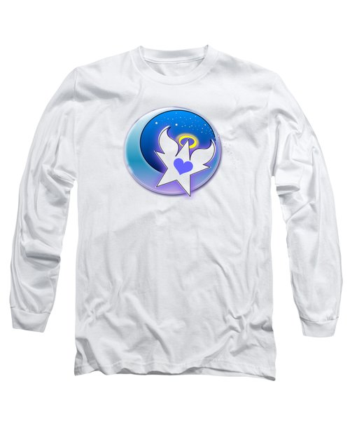 Angel Star Icon Long Sleeve T-Shirt by Shelley Overton