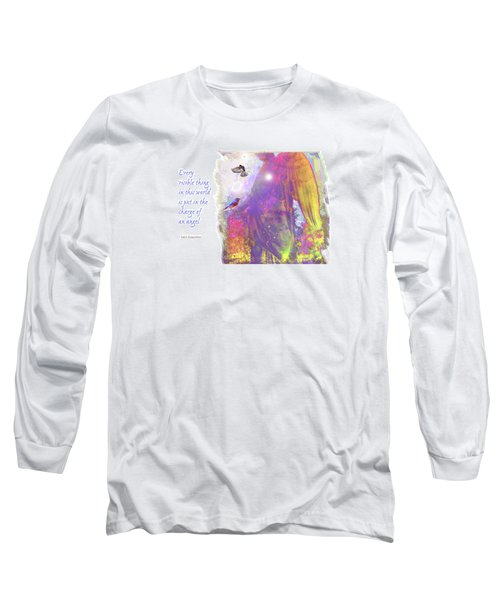 Long Sleeve T-Shirt featuring the photograph Angel Vision by Marie Hicks