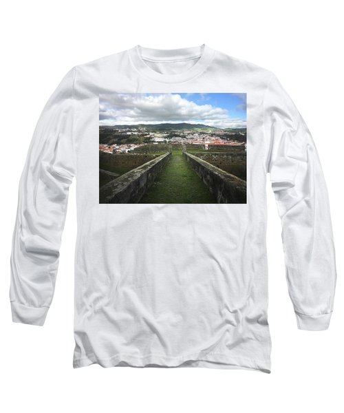 Angra Do Heroismo From The Fortress Of Sao Joao Baptista Long Sleeve T-Shirt