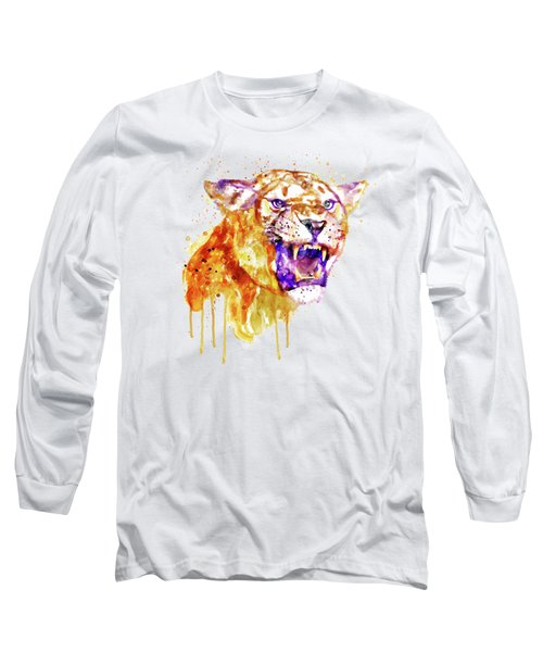 Angry Lioness Long Sleeve T-Shirt