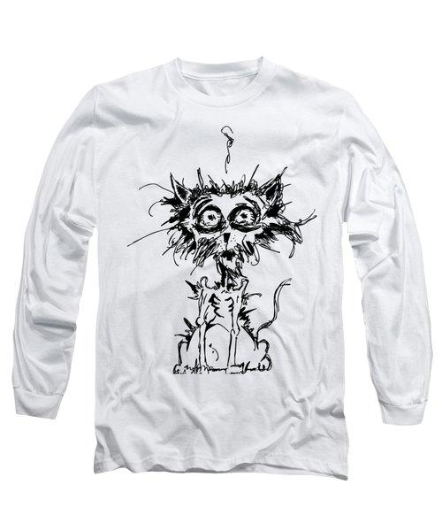 Angst Cat Long Sleeve T-Shirt