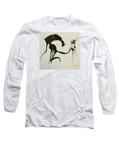 Long Sleeve T-Shirt featuring the painting Animalia I by Mary Sullivan