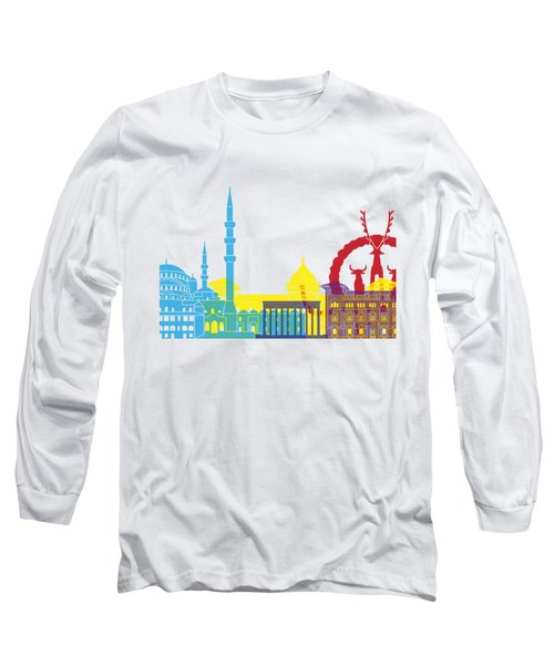 Ankara Skyline Pop Long Sleeve T-Shirt by Pablo Romero
