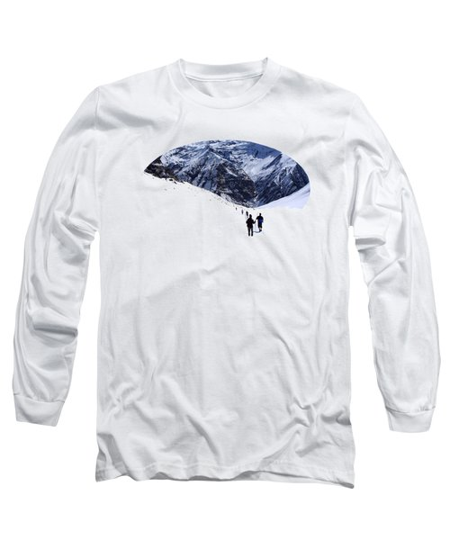 Long Sleeve T-Shirt featuring the photograph Annapurna Sanctuary by Aidan Moran